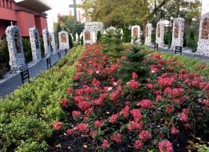 Poświęcenie Ogrodu Różańcowego
