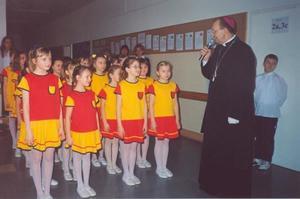 Wizytacja ks. Biskupa w Szkole Podstawowej nr 191 - 15.03.2004r.