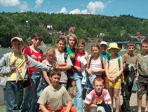 Wakacyjny wyjazd ministrantów i bielanek - Zalesie 2005