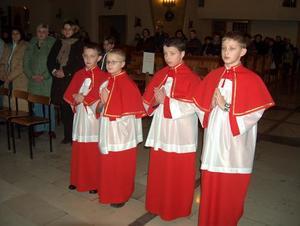 Przyjęcie do służby liturgicznej, 26 I  2007